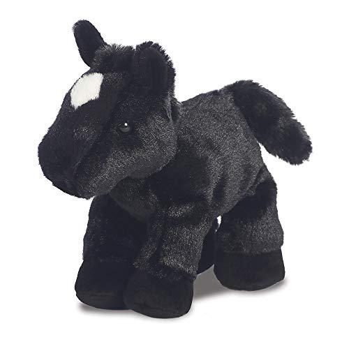 Aurora, 13297, Mini Flopsie Pferd, 20,3 cm, Plüschtier, schwarz