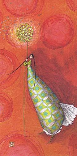 Karte Gaëlle Boissonnard 2019 � Die Kugel mit grünen Schmetterlingen � 10,5 x 21 cm