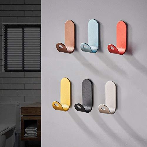 Jinhuaxin Ganchos Autoadhesivos 6 piezas, colgadores pared adhesivos inoxidable acero toalla ganchos adhesivos para pared, gancho de pared impermeable y resistente (Ganchos Autoadhesivos 2)