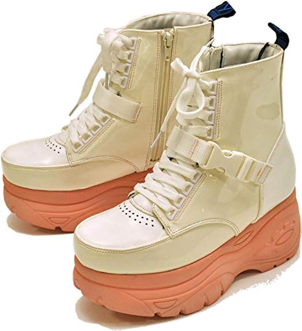 食べる風が強い強います[ノーブランド品] YOSUKE U.S.A ヨースケ 厚底 スニーカー ハイカット カジュアルシューズ 厚底靴 厚底ソール