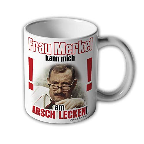 Merkel kann mich am Arsch lecken Alfred Tetzlaff Kanzlerin BRD Demo Tasse #17290
