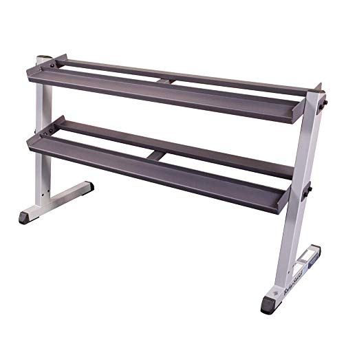 Body-Solid GDR60 2-Tier Horizontal Dumbbell Weight Storage Rack