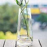 FUFRE Florero de Vidrio Diseño Creativo Jarrón de Vidrio Transparente, Jarrones de Cristal para Flores para Bodas, Decoración del Hogar U Oficina (Transparente)