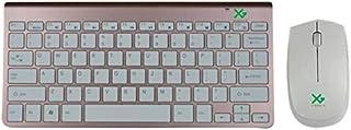 اكس تي جي لوحة مفاتيح لاسلكي مع فارة لاسلكي ابل ، اي ماك - ذهب وردي - XKM78-RG