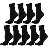 Nur Die Damen Gummi 9er Pack Socken, schwarz, 39-42