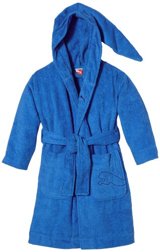 PUMA Kinder Bademantel Foundation Bathrobe, Brilliant Blue, 152, 510535 02