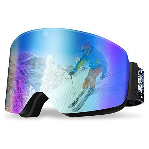 REDSTORM - Máscara de esquí, versión 2021, diseño panorámico de 180°, gafas...