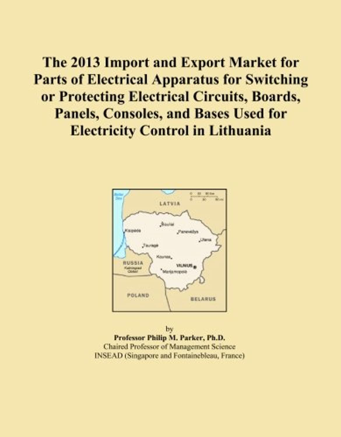 The 2013 Import and Export Market for Parts of Electrical Apparatus for Switching or Protecting Electrical Circuits, Boards, Panels, Consoles, and Bases Used for Electricity Control in Lithuania