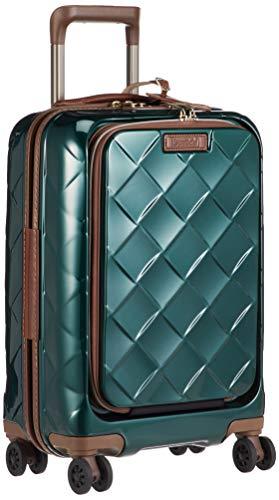 [ストラティック] スーツケース レザー&モア 機内持込 33L 3.30kg フロントオープン(前開き) 4輪ダブルキャスター 本革 ドリンクホルダー機能 機内持ち込み可 保証付 55 cm 3.3kg ダークグリーン