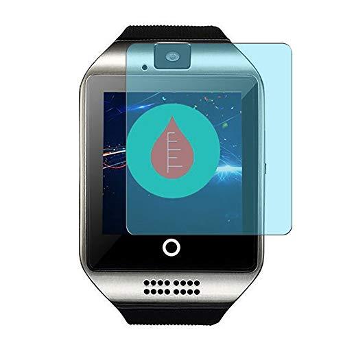 Vaxson 3 Unidades Protector de Pantalla Anti Luz Azul, compatible con Ezone/Bugear/Mahipey/Fswatch/Amokeoo/Qiufeng/CNPGD/Mgaolo Q18 1.54' [No Vidrio Templado] TPU Película Protectora