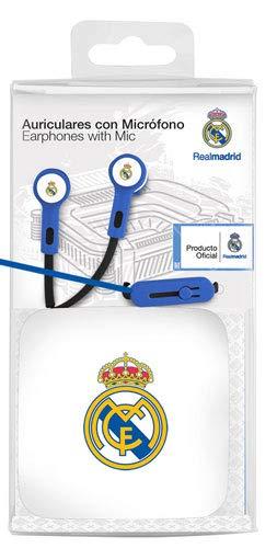 Seva Import Auricular Boton R.Madrid, Blanco, Talla Única