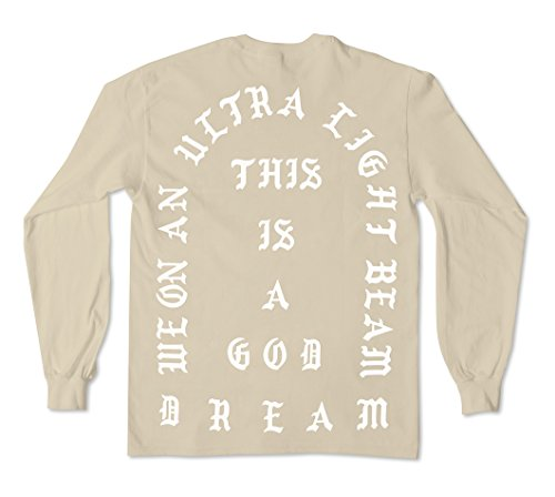 AA Apparel The Life of Pablo Tour | I Feel Like Pablo Long Sleeve Shirt (Extra Extra Large, Sand)