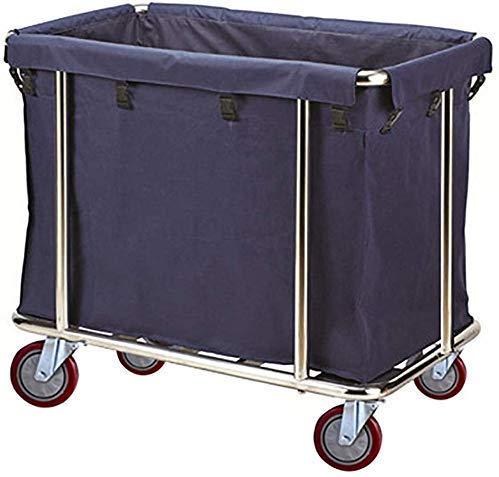Boodschappentrolley, artswagen, levensmiddelen, auto, opvangbak, wasmand, compact hotel, wasmand, wasverzamelaar met afneembare tas, blauw, 90 ×