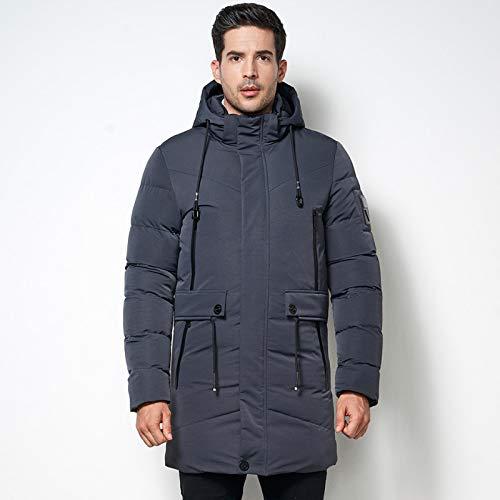 Winter Herren Casual Warme Parka Jacke Herren Fleece Mantel Mode Wasserdicht Mittellang Verdicken Parka Mantel Männchen Top Qualität XXL Grau