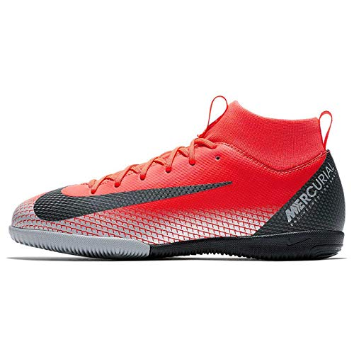 Nike Unisex-Kinder Superfly 6 Academy Gs Cr7 IC Fußballschuhe, Rot (Bright Crimson/Black-Chrome-Da 600), 32 EU