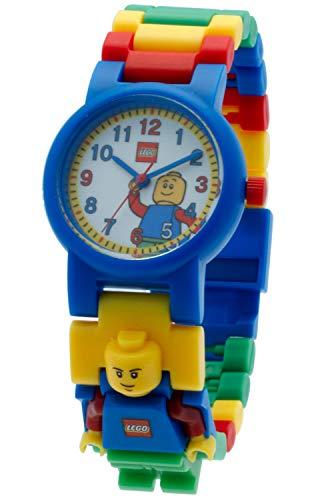 Armbanduhr Lego Classic, inklusive 12 zusätzlichen Armbandgliedern, Lego Minifigur im Armband integriert, analoges Ziffernblatt, kratzfestes Acrylglas