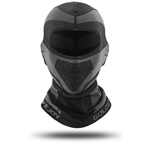 Zeroall Pasamontañas Moto Esquí Ciclismo Invierño Cubierta Facial A Prueba de Viento Respirable Balaclava Máscara para Ciclismo Esquí Snowboard Motociclismo(Negro)