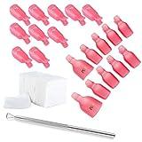 JZK 10 clip para los dedos + 10 clip para pies + 200 algodón + 1 curette, kit de herramientas de pinza de ropa para uñas removedor el esmalte semipermanentes
