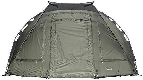 Carpline24 Angelzelt Block Bivvy I stabiles 1-Mann-Karpfen-Zelt wasserdicht 10.000mm Wassersäule I sehr schneller Aufbau I extra leichtes Fishing Tent I Outdoor Camping Festival I 290x215x145cm 8kg