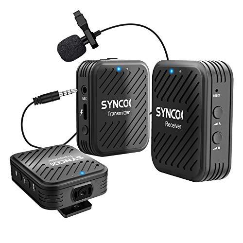 2,4G Système de Microphone sans Fil, SYNCO G1 (A2) Kit émetteur-Récepteur Transmission de 50M...