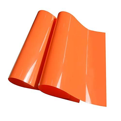 Orange Heat Transfer Vinyl HTV Iron on Vinyl Sheets for Tshirt 12x20,2-Pack
