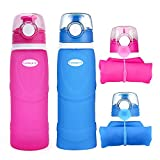 Farielyn-X Collapsible Water Bottle 26oz / 750ml Medical Grade Silicone, BPA Free, Roll Up...
