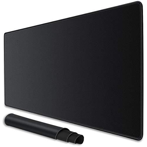 NI - Tappetino Mouse XXL Gaming Grande 900x400 mm, Mouse Pad da scrivania e da Gioco, Resistente All acqua con Superficie Liscia, Antiscivolo, Bordi Cuciti per Tastiera, Laptop Notebook