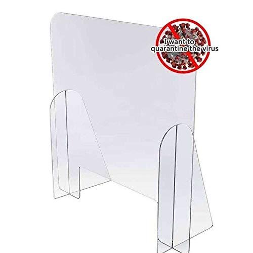 HKPLDE Niesenschutz Für Theke Und Schreibtisch, Freistehender Klarer Acrylschild Für Geschäfts- Und Kundensicherheit, Tragbare Plexiglasbarriere-75x75cm/30x30inch