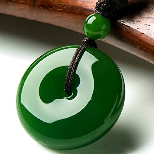 Mayanyan S925 Sterling Silber Halskette eingelegte Vintage grüne natürliche Hetian Jade Anhänger Frauen Halskette Geschenk