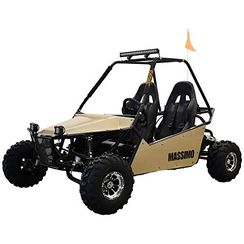 Massimo GKM 200cc Go Kart   6mo Warranty for Youth & Kids   Off-Road Baja Buggy 2WD 30mph (Sand)