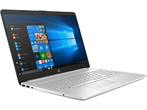 HP 15-dw1004na 15.6 Inch Full HD Laptop, Intel Core i3-10110, 8 GB RAM, 256 GB SSD, Windows 10 Home - Silver