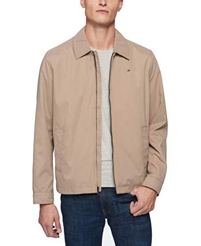 Tommy Hilfiger Men's Lightweight Microtwill Golf Jacket (Standard and Big & Tall), Khaki, Large