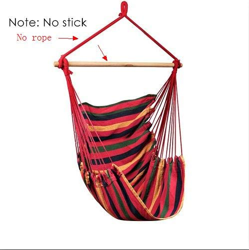 GBX Portable Travel Camping Hanging Hammock Home Bedroom Swing Bed Lazy Chair for Garden Indoor Outdoor Fashionable Hammock Swings A with 2 Pillows