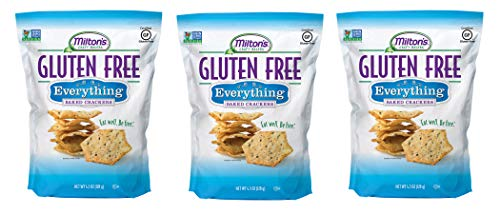Milton's Gluten Free Crackers (Everything). Everything Bagel-Inspired Gluten-Free Grain Baked Crackers (Pack of 3, 4.5 Ounces).