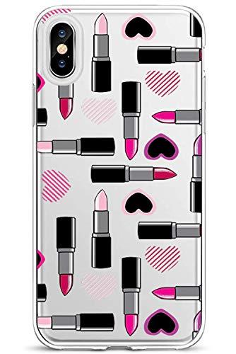 13peas voor iPhone X hoes transparant, helder silicone hoes met patroon zachte flexibele TPU beschermhoes camera bescherming en microdot patroon voor iPhone X case cover iPhone X B