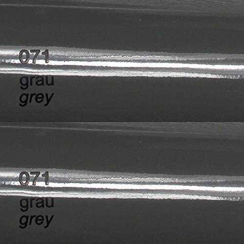 8,86 €/m2 Oracal plotterfolie glans 751c gegoten plotter meubelfolie zelfklevend High Performance Cast 1m x 0.63m 071, grijs