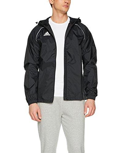 adidas Core18 Rain Jacket, Giacca Sportiva. Uomo, Black/White, 2XL