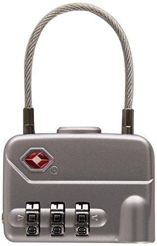 Pavo 8046744 PREMIUM TSA reisslot met kabelslot van aluminium - met 3-cijferige cijfercode - grootte: 49 mm
