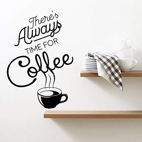 Tianpengyuanshuai fotobehang koffie drinken mok keuken café decoratie vinyl venster sticker opschrift muurschildering