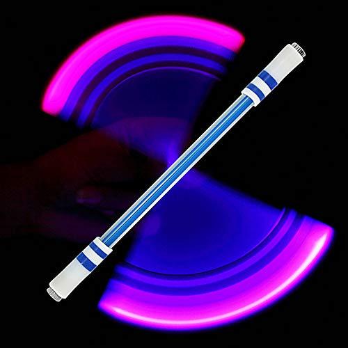 DishyKooker E15 Illuminated Spinning Pen Rolling Pen Spezialstift ohne Nachfüllung für Kinder E15 (B blau senden E11)