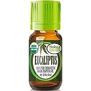Organic Eucalyptus Essential Oil (100% Pure - USDA Certified Organic) Best Therapeutic Grade Essential Oil - 10ml
