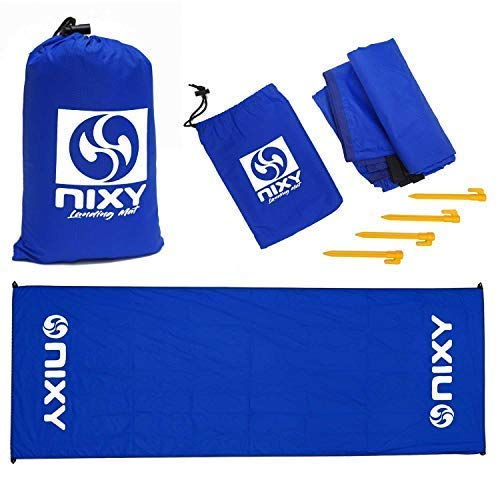 """NIXY Landing Mat Paddle Board Ground Tarp 142"""" x 57"""", Quick Drying, Durable, Sand and Dirt Resistant, Nylon, Best for Water Gear, Royal Blue"""
