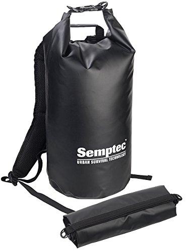 Semptec Urban Survival Technology Rucksack zum Einrollen: Wasserdichter Trekking-Rucksack aus LKW-Plane, 20 Liter, schwarz, IPX6 (Packsack Rucksack)