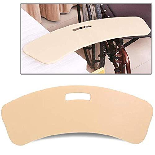 WUHX Tabla de Transferencia Curva - Usuarios de sillas de Ruedas, para discapacitados, Pacientes - Ayudas para el manejo de la Silla de Ruedas a la Cama
