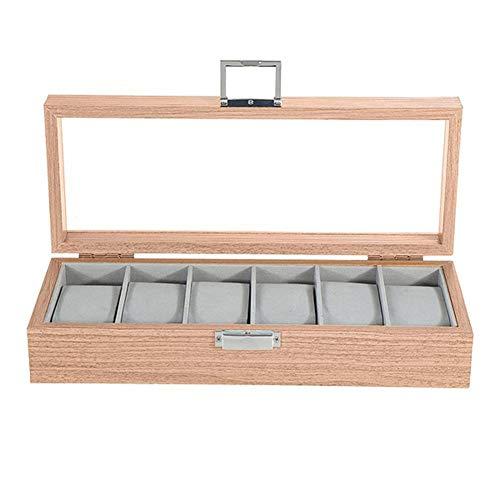 NKDbax Organizador de la caja de la caja de almacenamiento de la exhibición del tenedor de los relojes de pulsera de la joyería