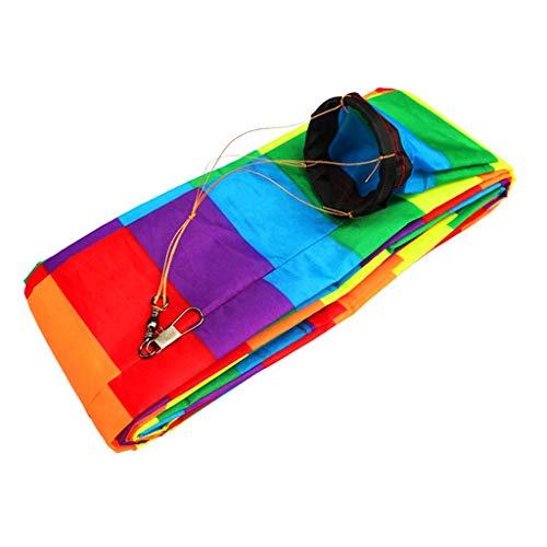 Inzopo Outdoor-Spaß-Sport-Drachenzubehör, 10 m, Regenbogen-Barschwanz, für Delta-Drachen/Lenkdrachen, Geschenk für Kinder