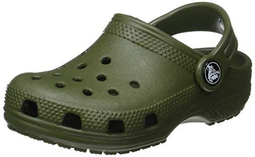 Crocs Classic Clog Kids Roomy fit, Zuecos Unisex niños, Verde (Army Green 309), 32/33 EU