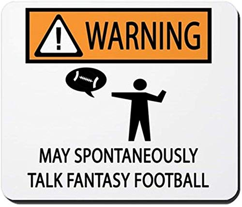 Talks About Fantasy Football - Non-Slip Rubber Mousepad, Gaming Mouse Pad 18 * 22cm