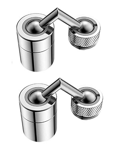 Universal Splash Filter Faucet 720° Rotate Water Outlet Kitchen Faucet, Sink Faucet tap Filter Aerator Big Angle 2 pcs