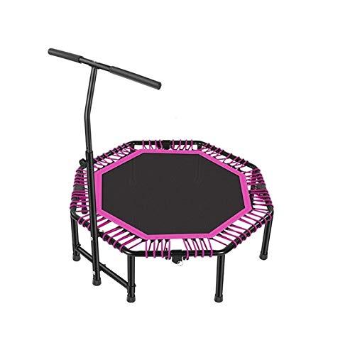 "Bdesign 48"" Round Mini Trampoline Rebounder Indoor Outdoor Mini Jumper with Adjustable Handle - Foldable Safe Elastic Band for Indoor Outdoor Garden Yoga Exercise Cardio"